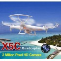 Quadricoptero Syma X5C Latest 6 Axis Gyro 2.4GHz 4 Channel 360 Degree 3D Eversion Mini Aircraft com 200W HD Camera