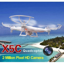 Quadricoptero Syma X5C Latest 6 Axis Gyro 2.4GHz 4 Channel 360 Degree 3D Eversion Mini Aircraft com 200W HD Camera
