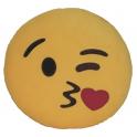 Almofada Emoji beijinho coração