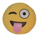 Almofada Emoji língua de fora pisca o olho