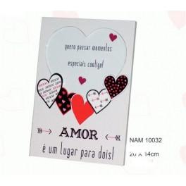 """Moldura """"Amor é um lugar para dois!"""""""