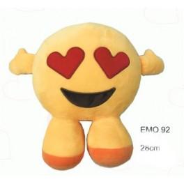 Peluche Emoji olhos coração e pernas