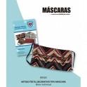 Kit 4 Máscaras estampadas tecido lavavel