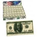 Lenços de papel em notas de 100dolares